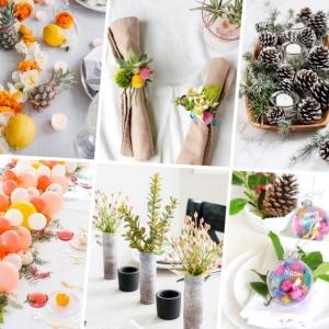 Idée déco table - plus de 90 magnifiques propositions + instructions pour les réaliser vous-mêmes
