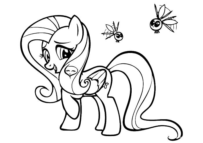 coloriage petite licorne de my little pony, image a colorier à imprimer gratuitement, coloriage mon petit pony