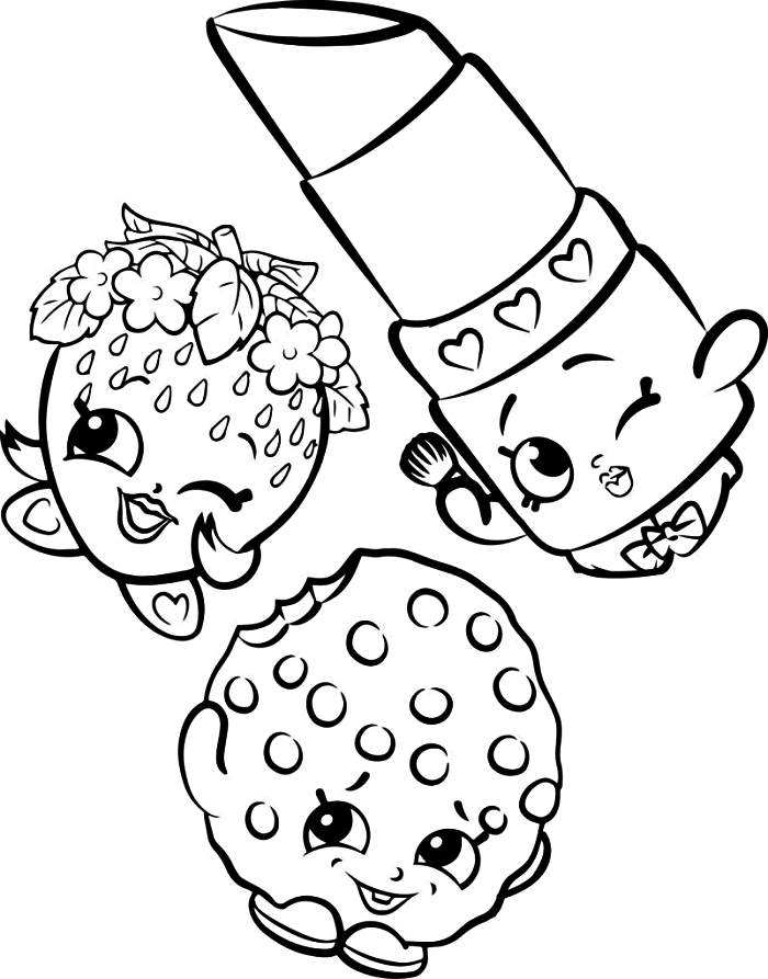 coloriage maternelle personnages kawaii, dessin kawaii à imprimer et colorier fraise, rouge à lèvres kawaii
