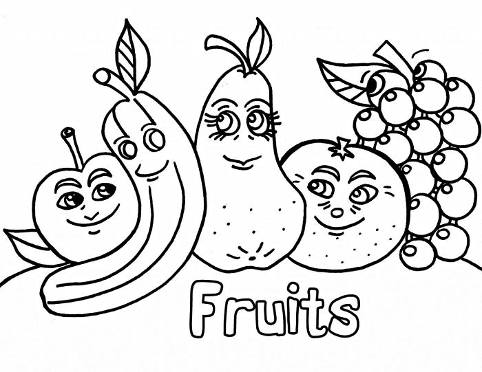 activité de coloriage maternelle éducatif pour apprendre les fruits, dessin à colorier fruits à imprimer gratuitement