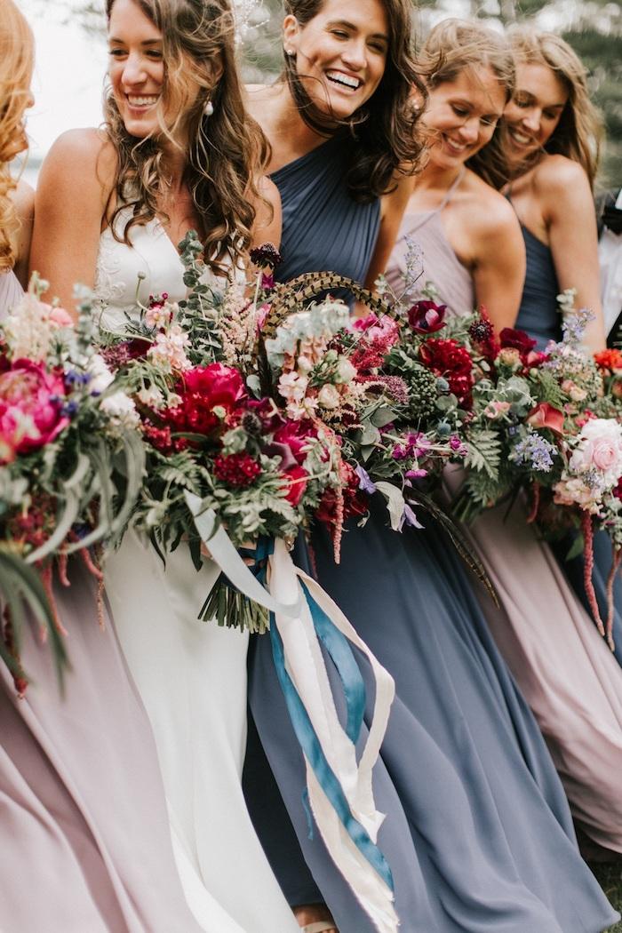 Demoiselles d'honneur, robe de soirée chic, femme en robe habillée moderne