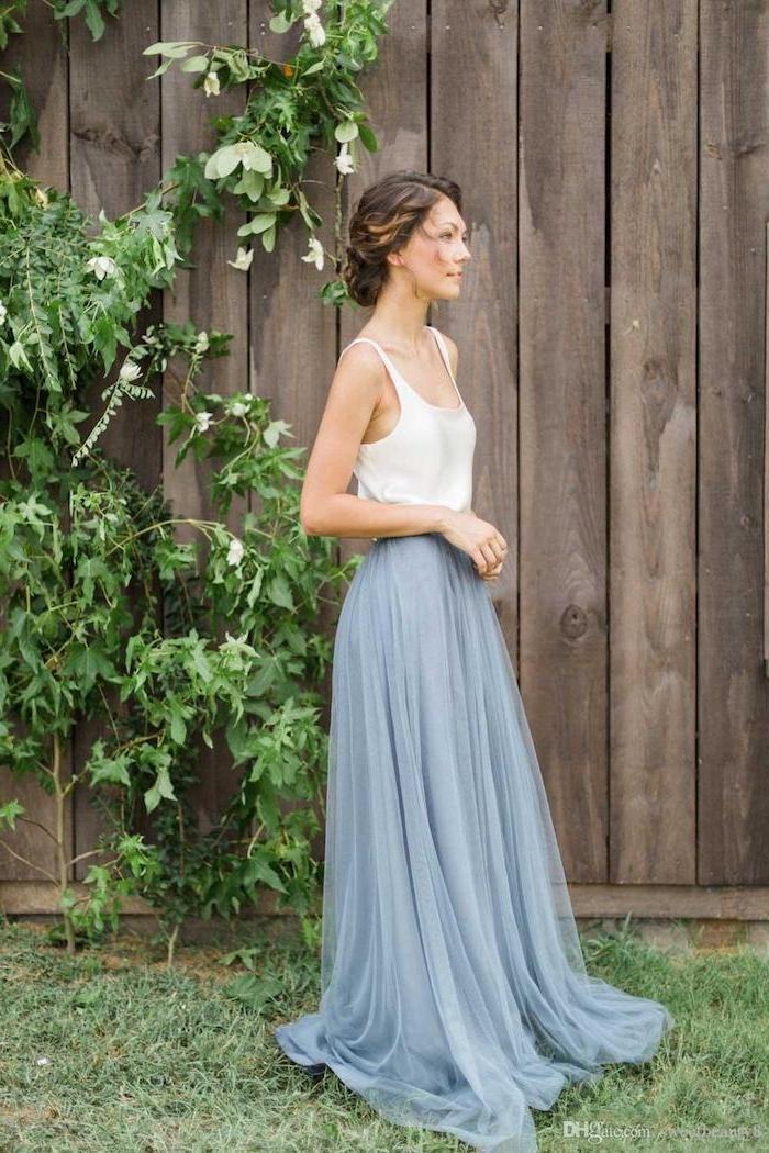 Jupe et top bohème robe de cocktail pour mariage chic, comment s'habiller pour un mariage