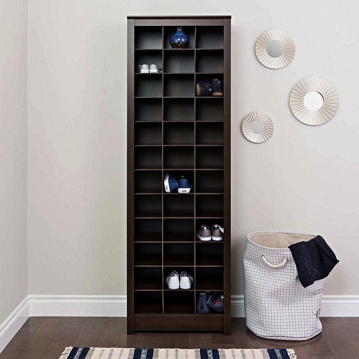petit meuble de rangement à chaussures avec casier à mettre dans l'entrée ou dans une chambre à vie