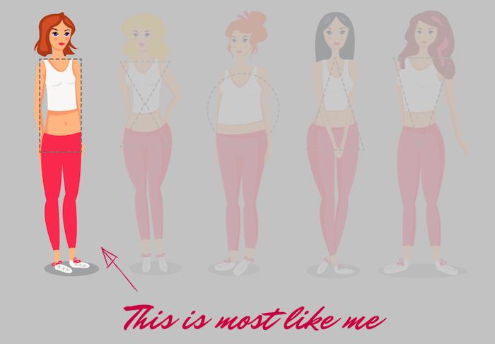 comment s habiller quand on est ronde, morphologie du corps en H, quelle est ma morphologie
