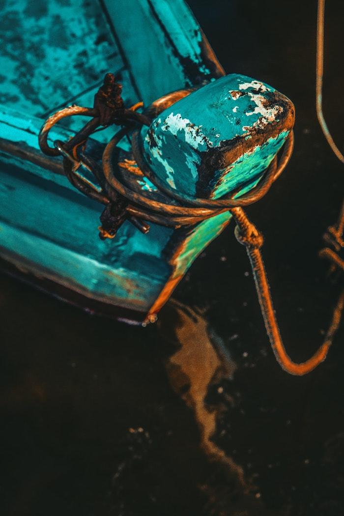 Barque vintage photo de Venise en nuit, dessin fille swag, fond d'écran cool, moderne art original