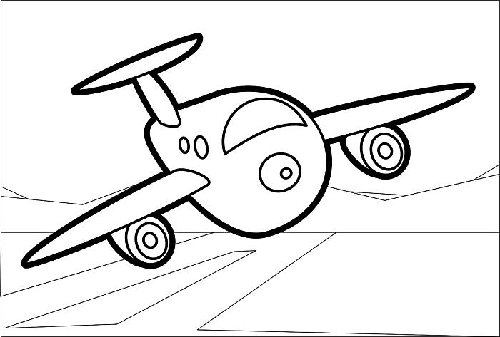 dessin de coloriage avion à imprimer et à colorier, coloriage garçon petit avion en vol, pages à colorier gratuite pour enfant