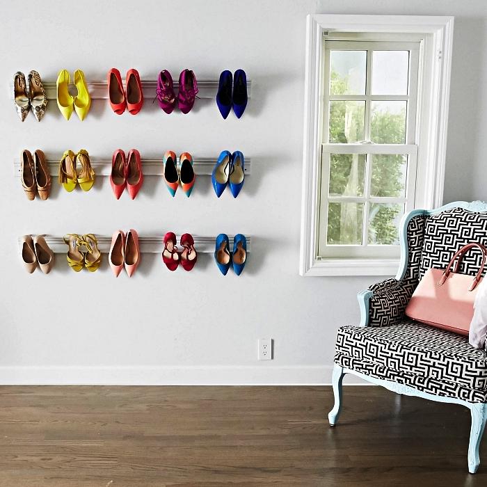 1001 id es pour am nager un dressing chaussures. Black Bedroom Furniture Sets. Home Design Ideas