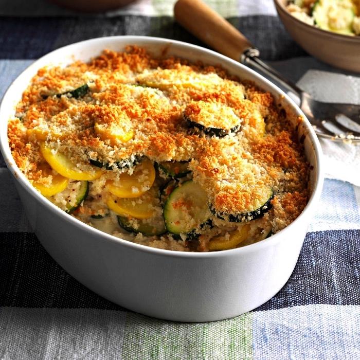 recette gratin courgette et parmesan, gratin végétarien aux courgettes, idée repas du soir avec courgettes