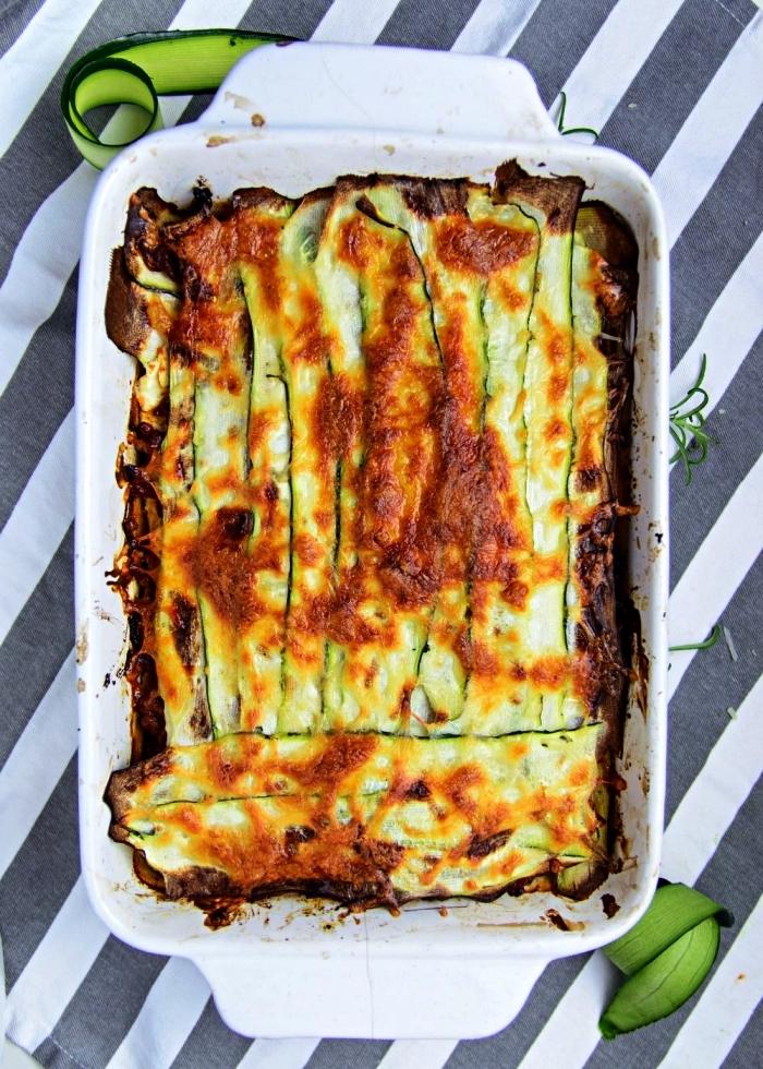 recette de lasagne bolognaise aux courgettes gratinées et à la viande hachée, meilleures recettes pour cuisiner courgette