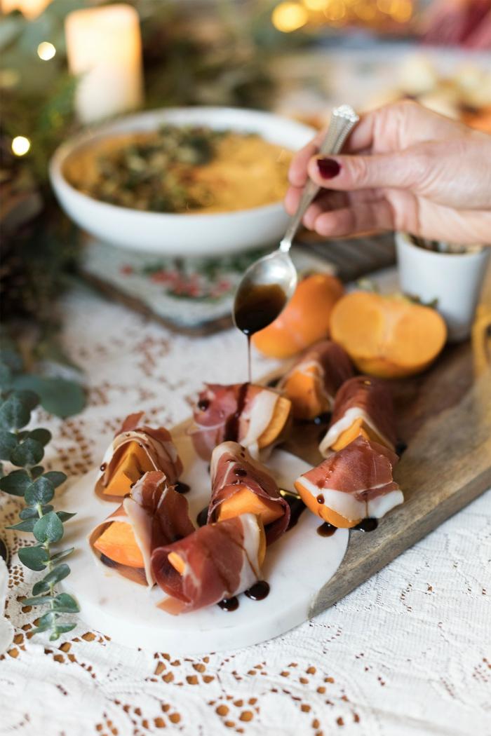 jambon, mangue, sauce, idee apero dinatoire, saveur sucrée salée avec produits simples et abordables