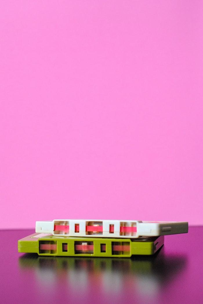Cassettes radio swag photo a fond rose, les plus belles images du monde, originale idée d image pour fond d ecran