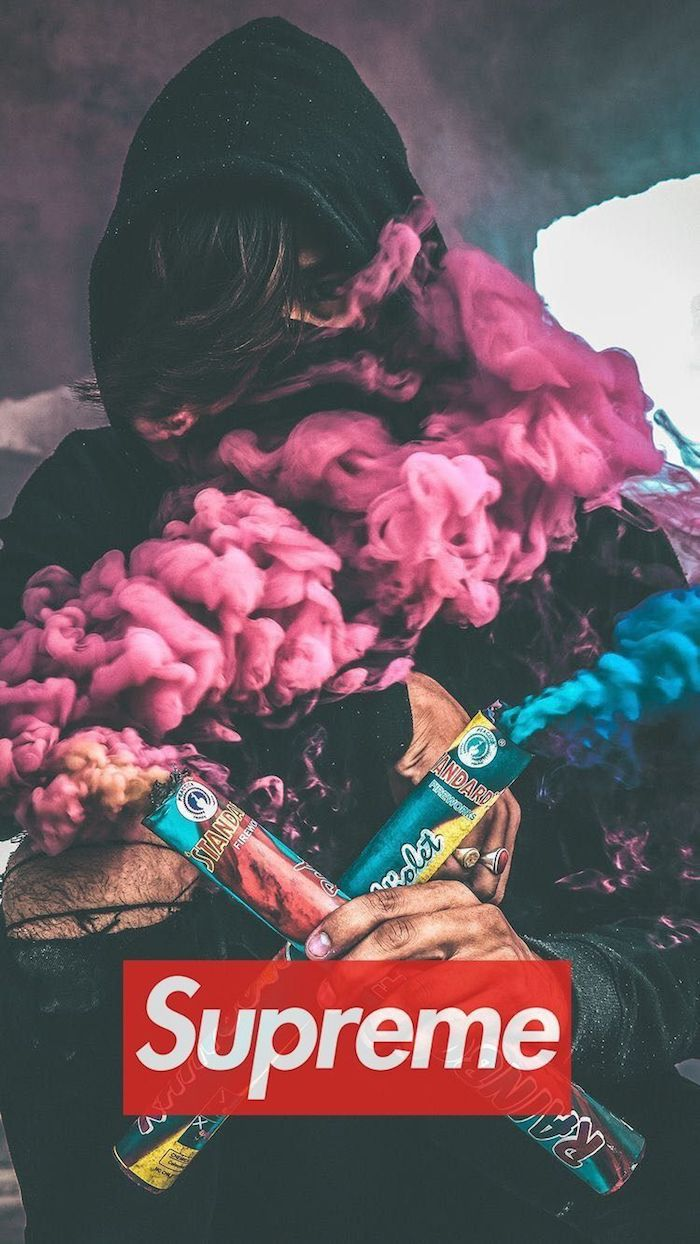 Suprême idée à réaliser avec ses photos, choix de fumes colorés pour photographie, homme swag