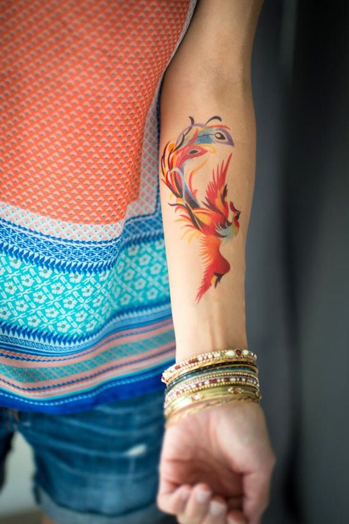 bracelets ethniques, vêtement tribal, tatouage aquarelle, symbolique amérindienne, tatouages oiseaux