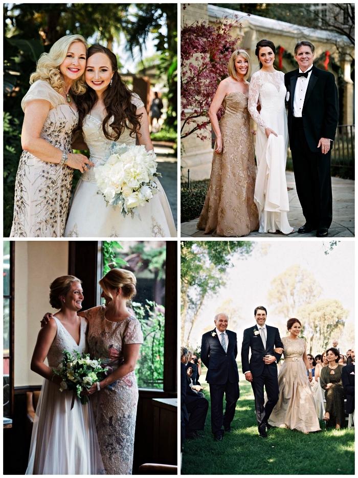 choisir une robe pour la mère de la mariée, modèles de robes de soirée longues et habillées pour un mariage formel