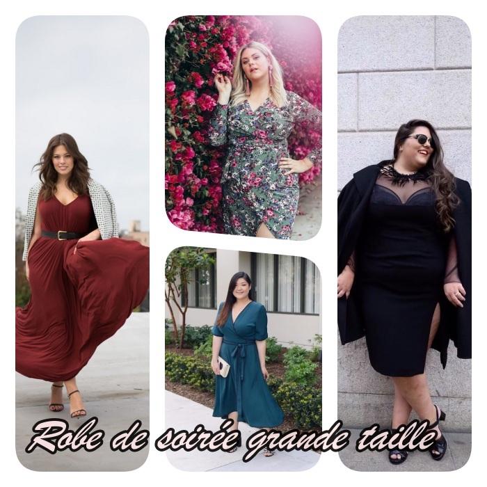 modeles de robe de soirée grande taille à diverses coupes et couleurs avec et sans manches et décolleté en v