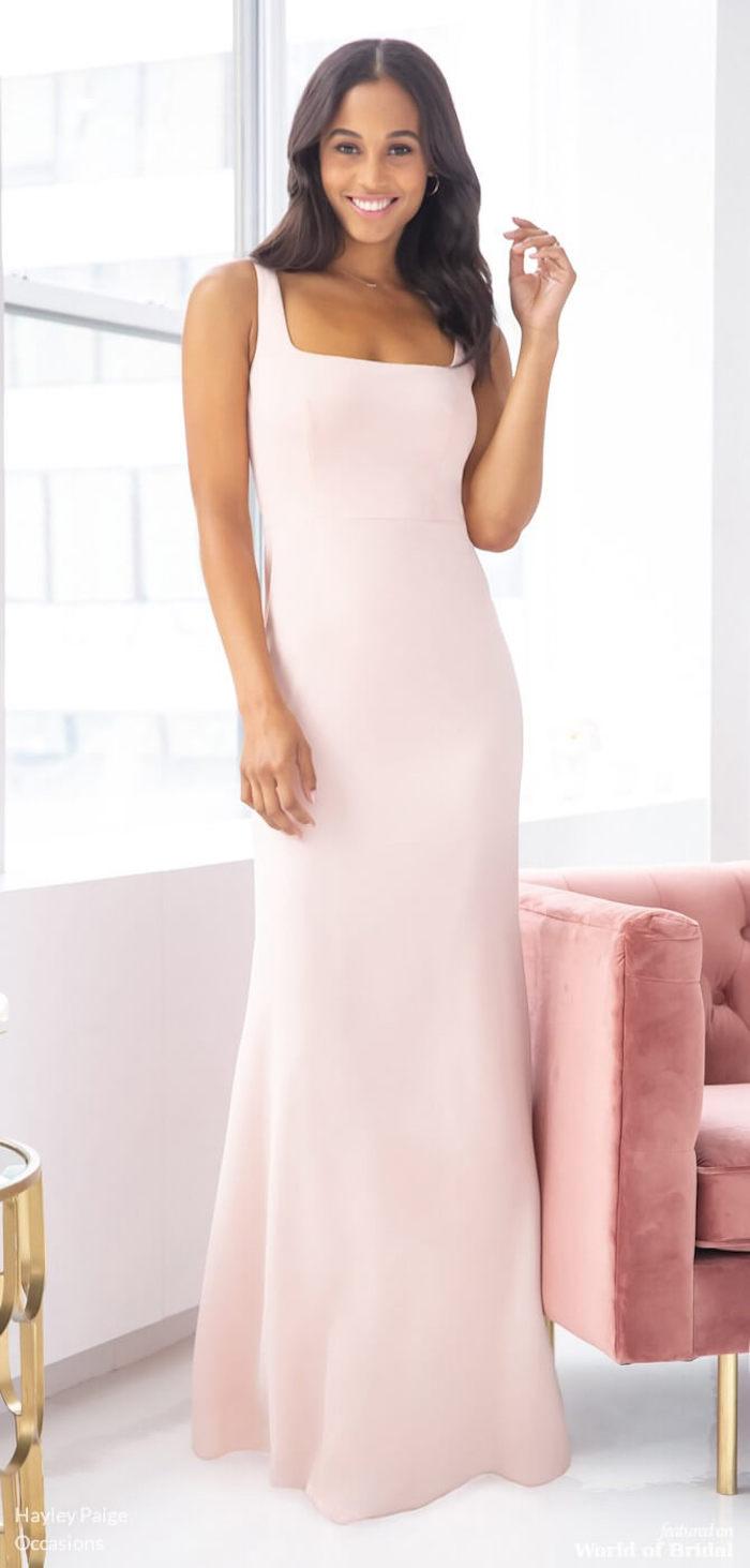 Rose bébé longue robe classique, robe bohème chic, comment savoir comment s'habiller bien