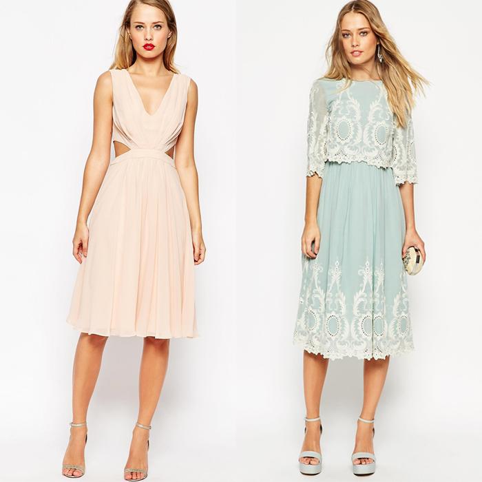 Deux idées pour une robe courte modeste pour mariage et un peu plus ouverte, robe invitée mariage, robe femme habillée, tenue de mariage femme