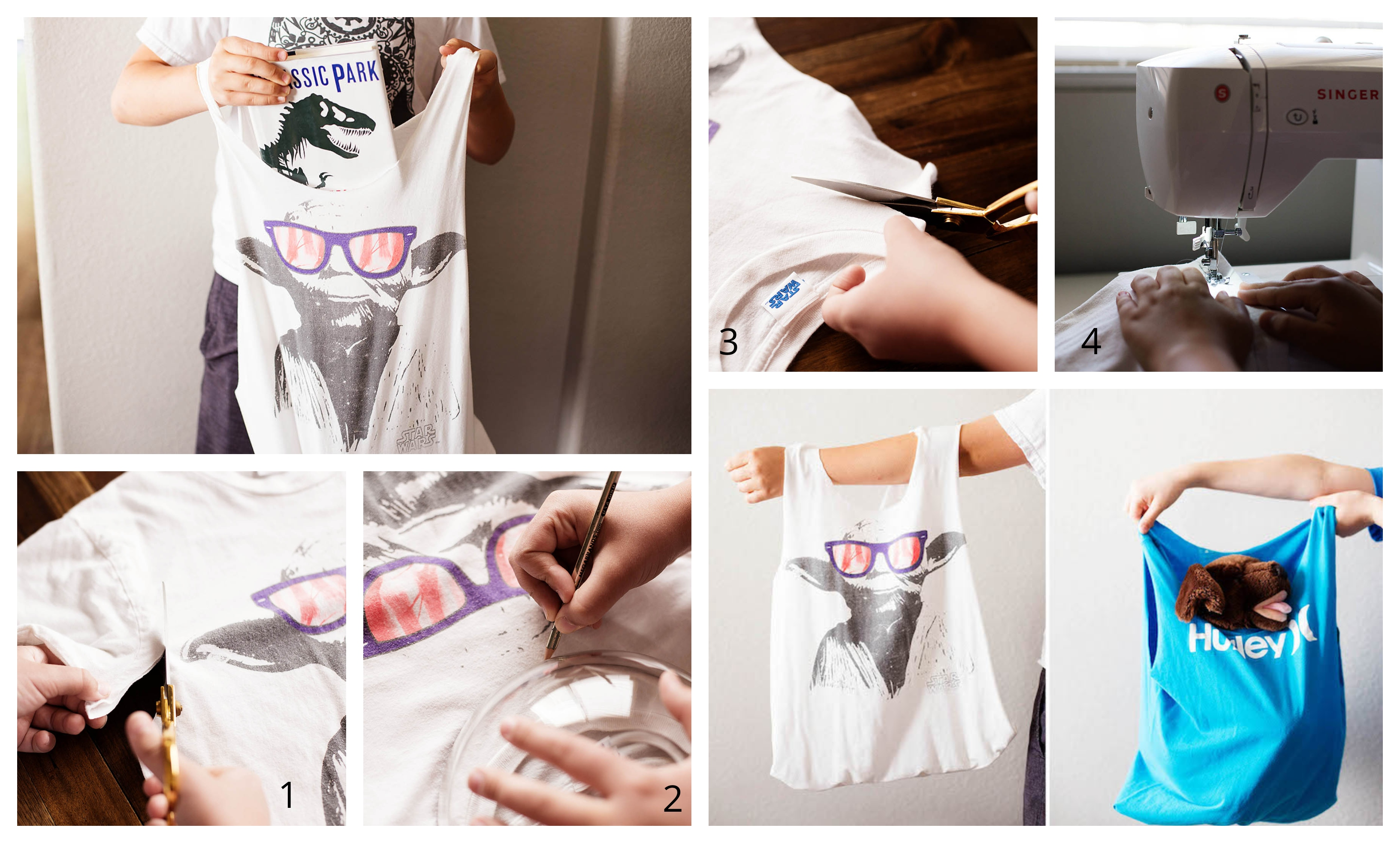 Faire un sac de t-shirt sans coudre, tuto couture de sac à main en tissu, idée tuto sac cabas t-shirt transformation