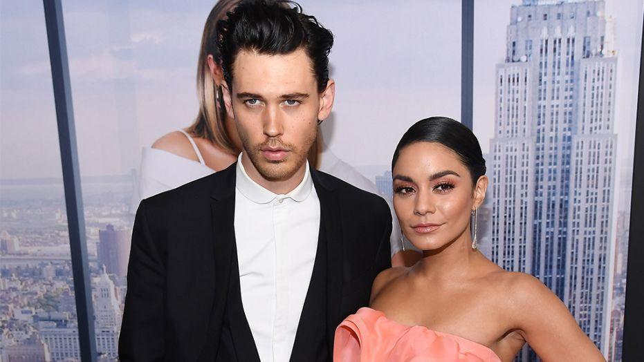 Austin Butler et sa compagne Vanessa Hudgens, l'acteur jouera le rôle d'Elvis Presley dans le biopic de Baz Luhrmann