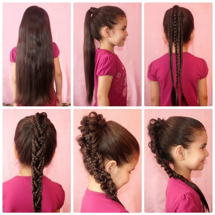 Pas à pas tutoriel pour coiffure occasion spécial, coiffure facile a faire, coiffure pour fillette décontractée chic