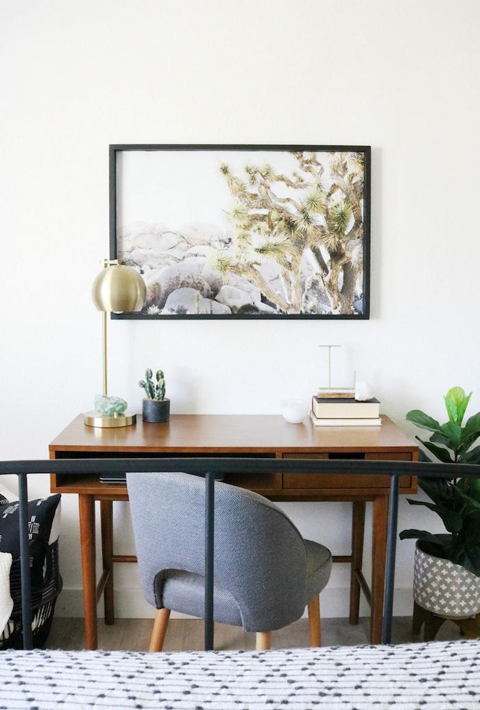 Fauteuil gris idee bureau, chambre à coucher multifonctionnelle image peinture sur le mur art cool