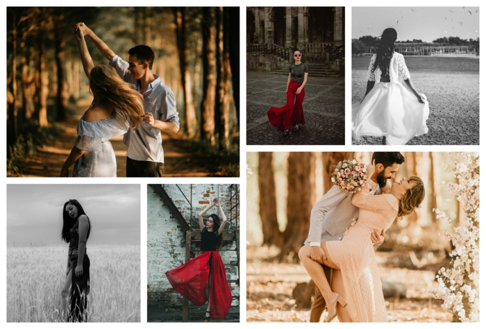 Comment s'habiller pour un événement spécial, mode d'été 2020, vetement femme tendance, robe longue bohème, robe de soirée et la robe de la mariée