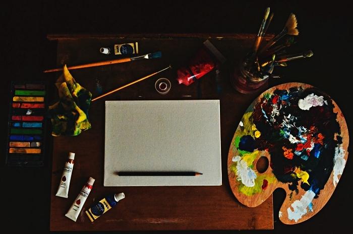 conseils et inspirations pour peindre à l'acrylique, apprendre à peindre des tableaux à l'acrylique