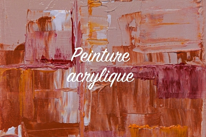 peintures abstraites modernes à l'acrylique, tableau abstrait couleur rose, ocre et terre cuite