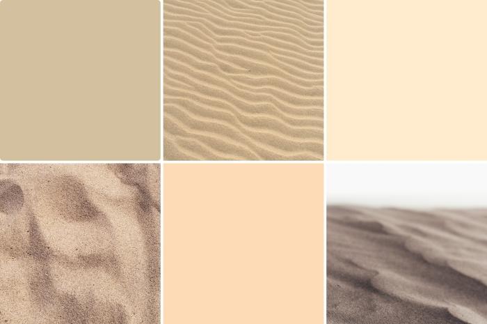 nuancier peintures beige tendance 2019, couleur beige crème pour peinture murale, peinture sable pour déco en nuances neutres
