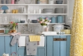 La déco cuisine bleue – une cuisine au septième ciel