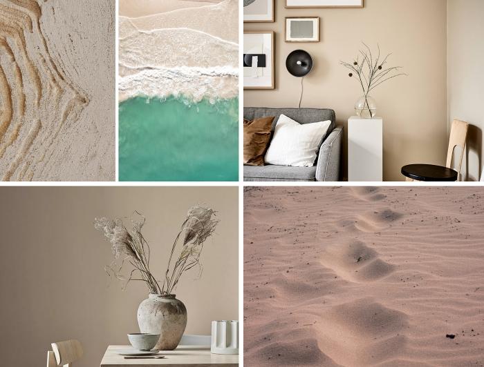 idée peinture beige clair pour salon, avec quoi assortir le beige dans la déco, teintes du beige dans le design intérieur