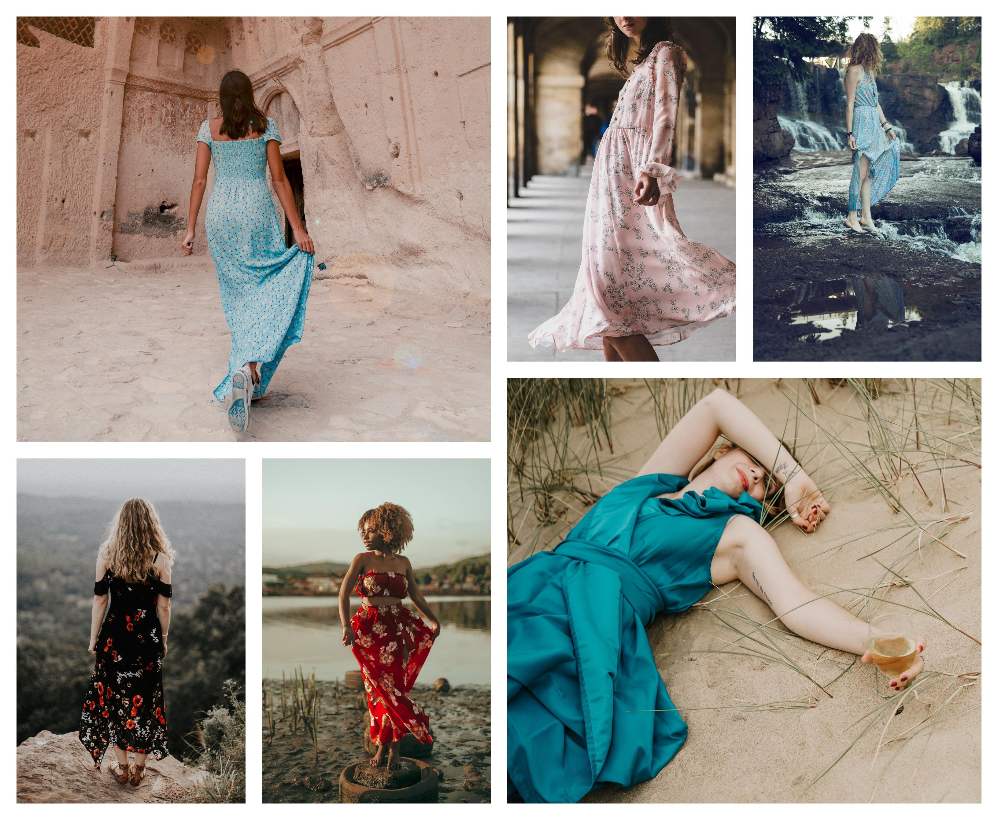 Bohème robe longue, mode d'été 2020, tenue bohème chic femme, idée comment s'habiller cette été