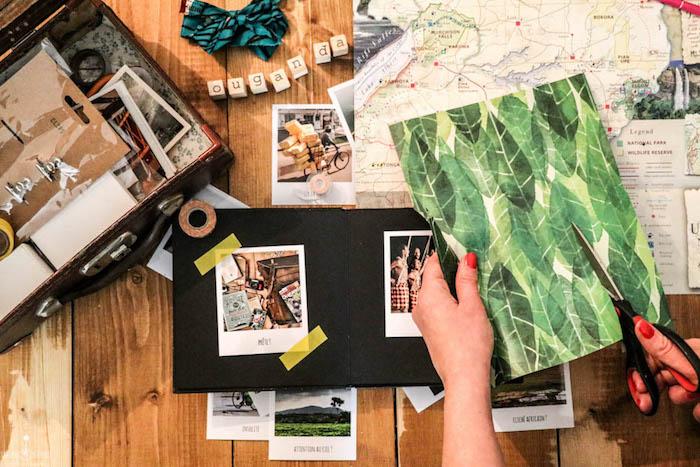 Comment créer de fond pour son album photo, scrapbooking album, idée originale pour organiser un livre diy