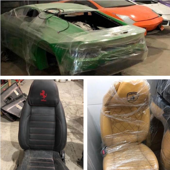 Les fausses voitures de luxe découvertes au Brésil étaient moulées et assemblées sur place avec des moteurs Mitsubishi et Chevrolet