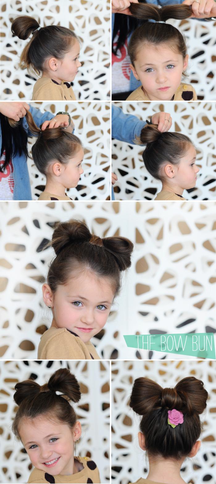 Simple tuto coiffure cheveux longs, tuto coiffure facile cheveux enfant, faire un papillon de cheveux