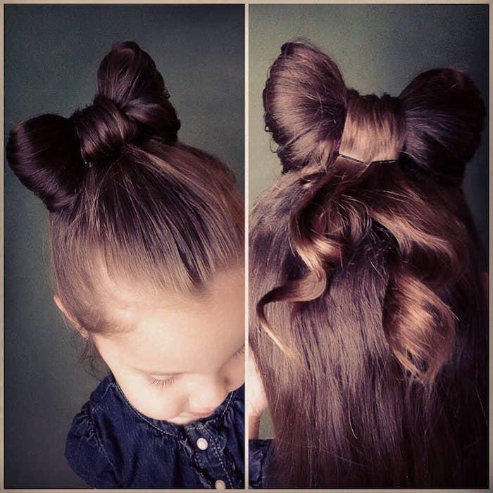 La papillon cheveux adorable, petite fille coupe de cheveux, coiffure belle de petite fille, tuto coiffure facile pour fille