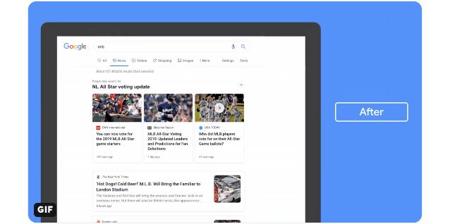 Le nouveau design de Google Actualités qui accompagnera sa refonte sera plus aéré
