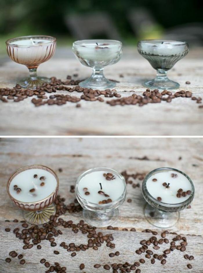quel contenant résistant à la chaleur pour une bougie maison, fabriquer ses bougies en restes fondus dans verres