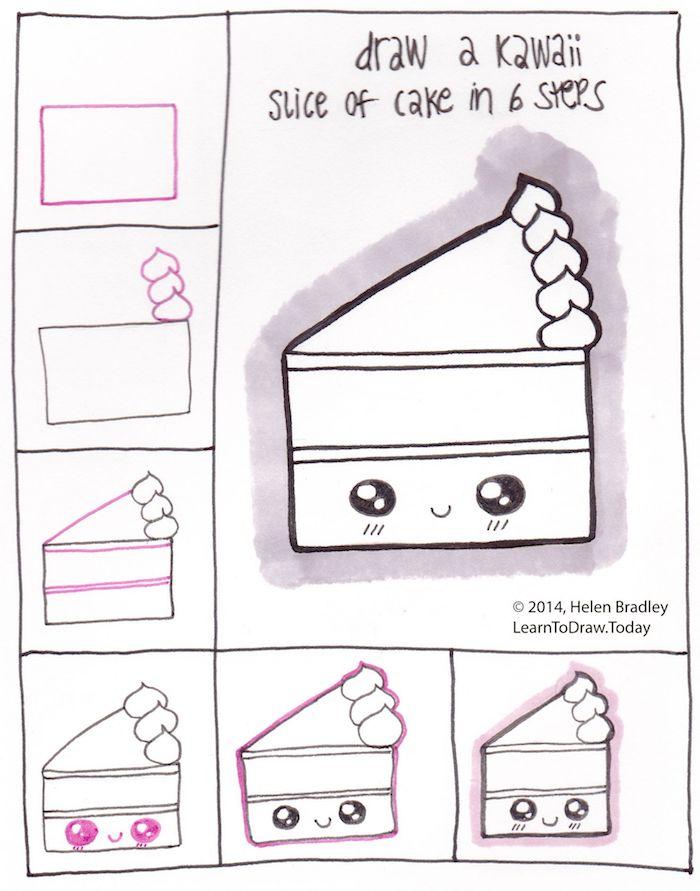 idée de dessin de gateau d anniversaire facile a faire morceau de gateau dessin d anniversaire kawaii