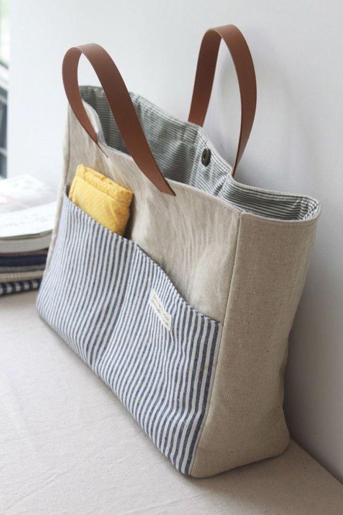 Idée de projet diy facile, tuto sac à main, comment faire un sac en tissu pour ceux qui peuvent coudre