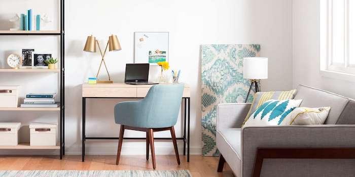 Étagère rangement ouvert, salon bureau maison, deco bureau, ikea rangement bureau idée simple