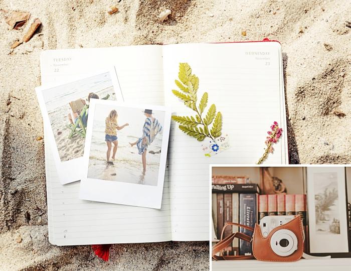 comment fabriquer un album photo scrapbooking, idée technique scprabooking facile et rapide, bricolage été facile