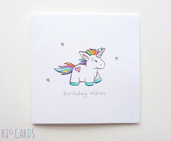 image mignon anniversaire licrone coloré de couleurs ar en ciel dessin pour anniversaire fille
