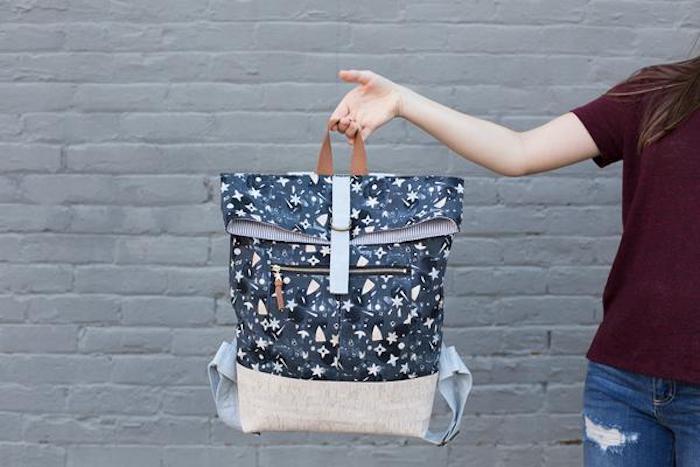 Sac à dos, idee couture pour débutant, tuto sac cabas, modèle de sac