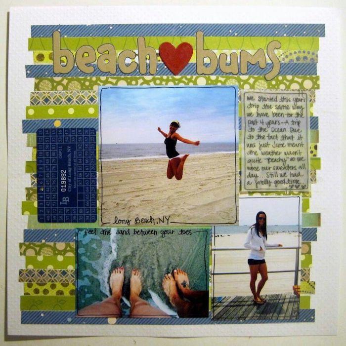 Activité créatif pour ado, idée scrapbooking pas cher, album scrapbooking diy, projet scrapbook vacances d'été