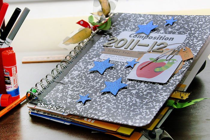 Couverture de livret scrapbooking album, livre scrapbooking, idée scrapbooking album photo