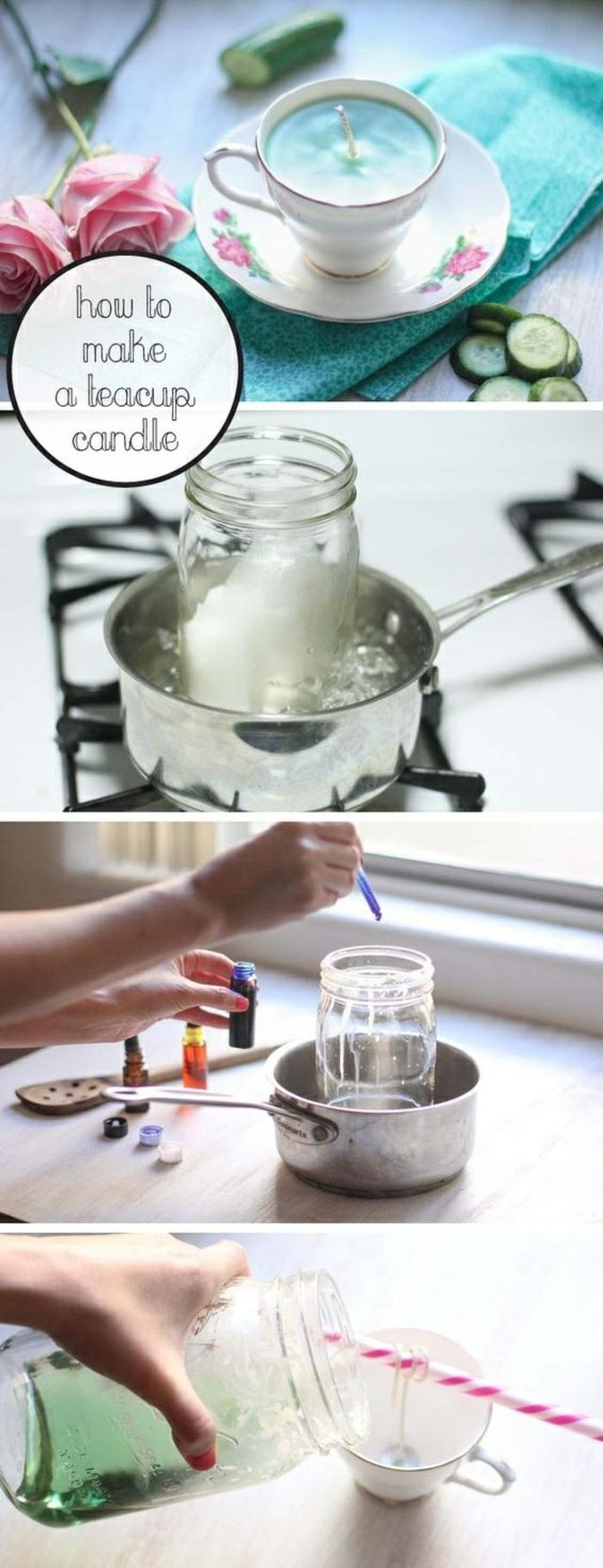 quel contenant pour une bougie fait maison, pas à pas comment fabriquer une bougie, tutoriel creation bougie
