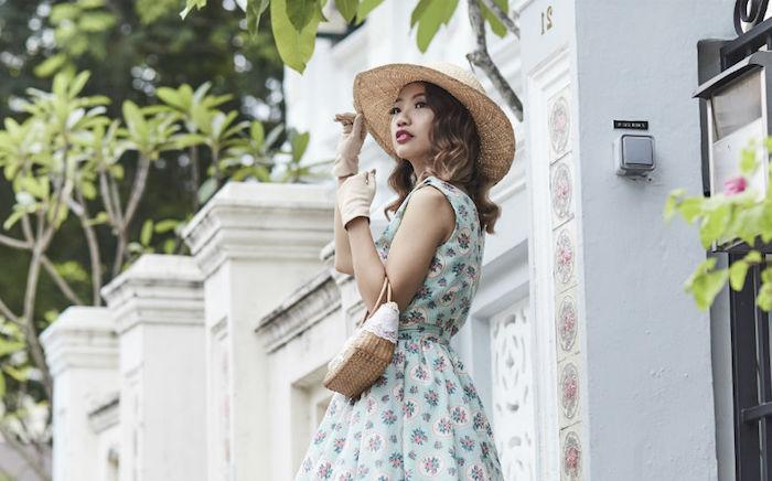 Robe rétro, tenue guinguette femme, soirée guinguette comment s'habiller pour aller à une soirée habillée au style vintage