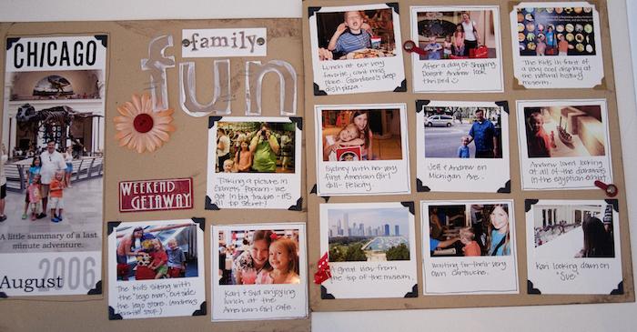 Livre souvenir de voyage, comment fabriquer une page scrapbooking, album photo scrapbooking, photographies polaroid