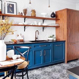 La déco cuisine bleue - une cuisine au septième ciel